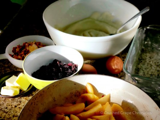 Ingredients for our version of Le Farçon,