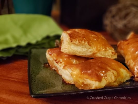 Rissoles (or r'zoles) puff pastry filled with apple compote from Savoie