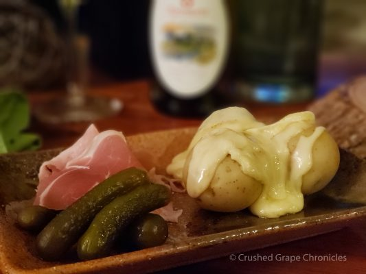 Our raclette pairing with an Apremont from the Savoie region
