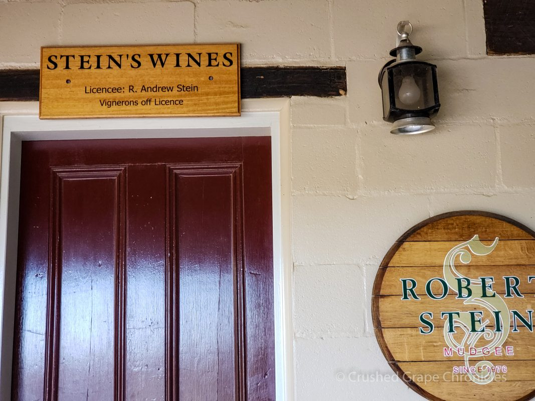 Stein's Wines cellar door entrance at Robert Stein Mudgee NSW Australia
