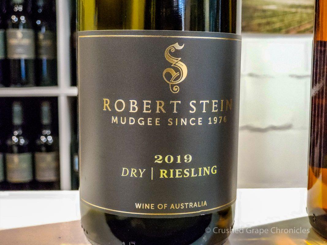 Robert Stein's award winning dry riesling. Mudgee NSW Australia