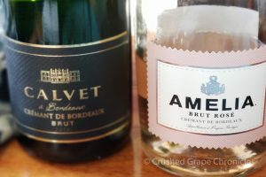 Crémant de Bordeaux Amelia Brut Rose and Calvet Blanc