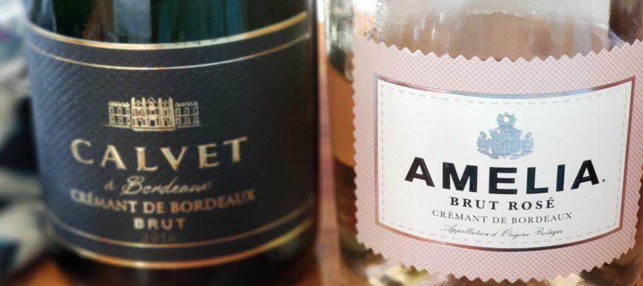 Crémant de Bordeaux Amelia Brut Rose and Calvet Blanc