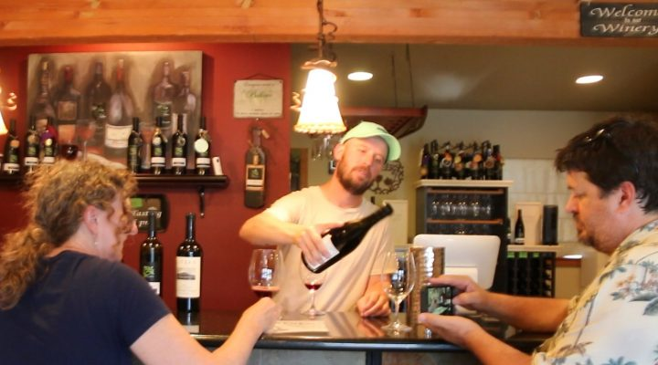 Tasting with Seth Kitzke at Kitzke Cellars Candy Ridge Vineyard Washington
