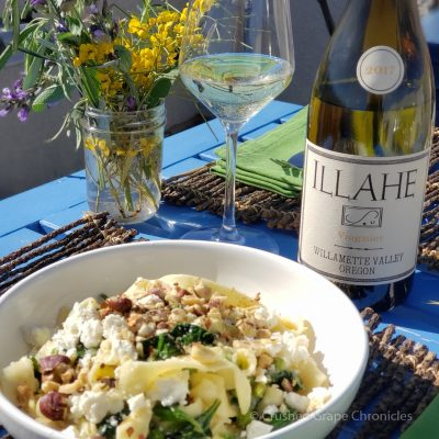 Spring, Pappardelle with a Illahe Viognier