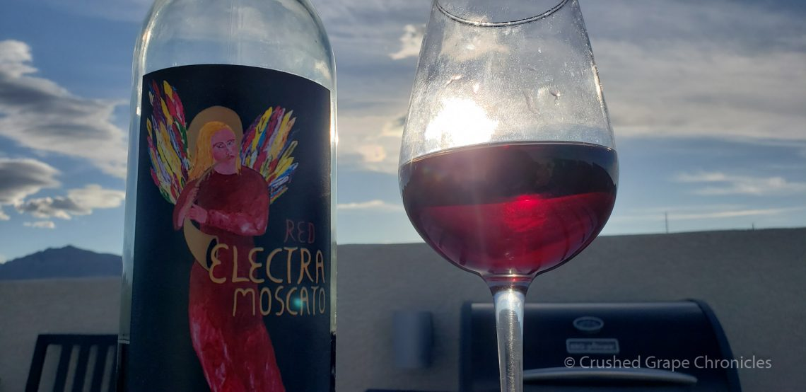 Red Electra Moscato from Quady on the roof