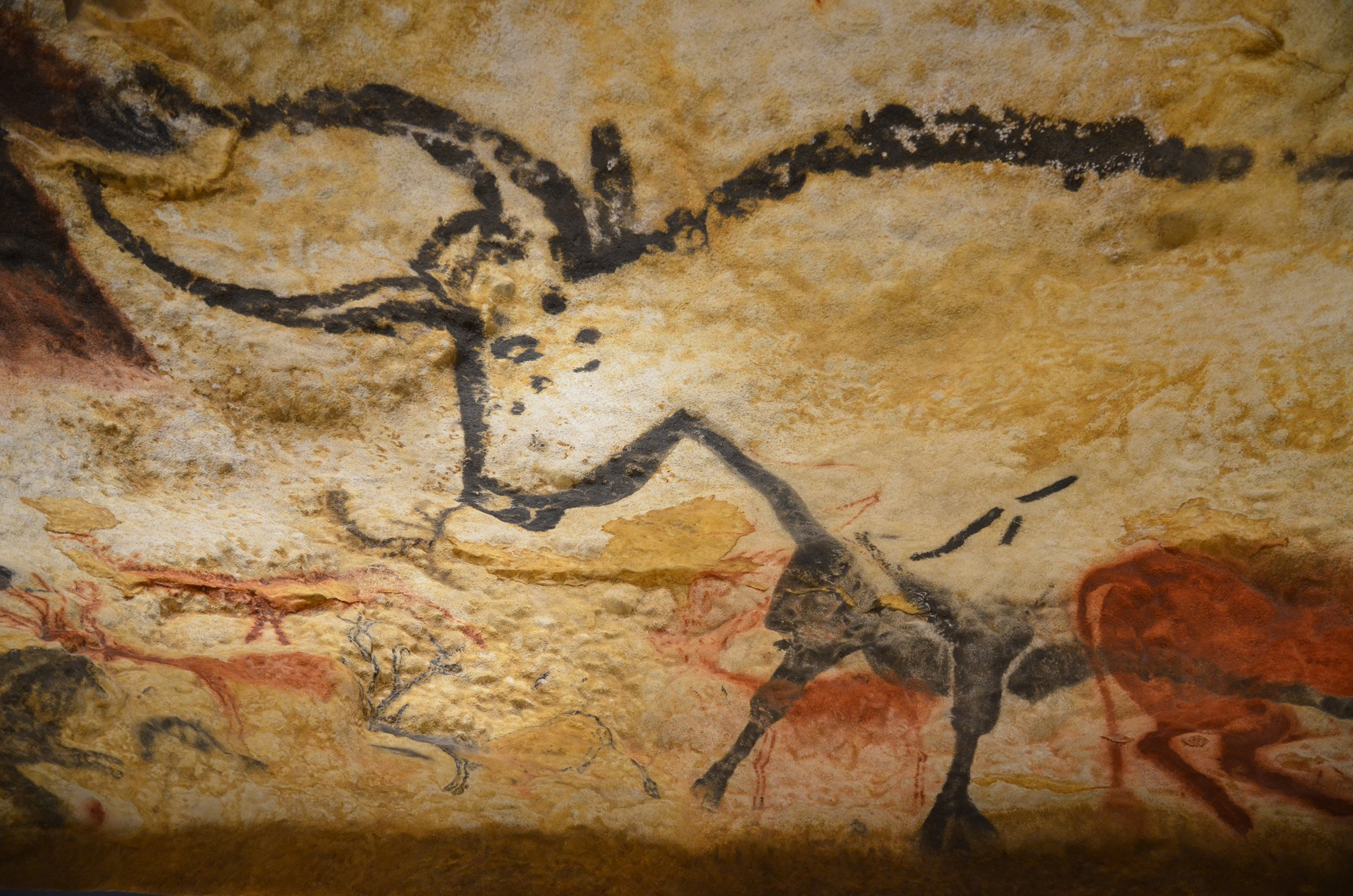 Cave Paining in Lascaux Cave in the Dordogne region of France