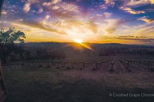 Sunset from the First Ridge Cellar Door in Mudgee New South Wales Australia