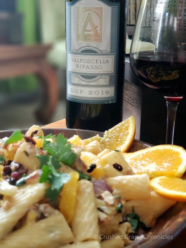 Valpolicella Ripasso from Acinum with Sicilian Rigatoni with Roasted Califlower