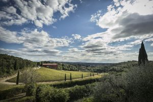 Panoramic view of Caiarossa vineyard and winery in Tuscany Italy. Photo courtesy of Caiarossa (Maker of Super Tuscans)