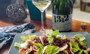 Cava Mestres 1312 and Beef dzik salad