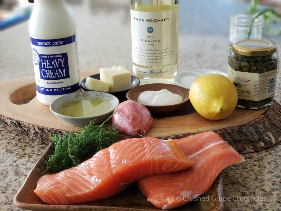 Ingredients for Alsatian Salmon