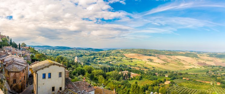 Panoramic view from Montepulciano-Italy