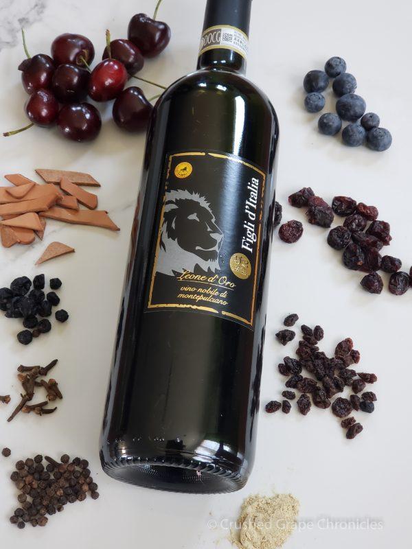 Figli d'Italia Leone d'Oro Vino Nobile di Montepulciano.  Sangiovese based wine from Tuscany
