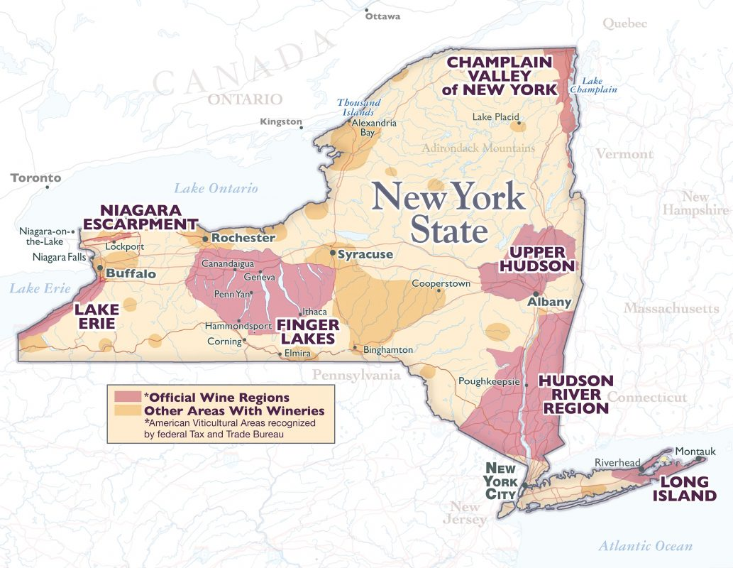 New York AVA Map