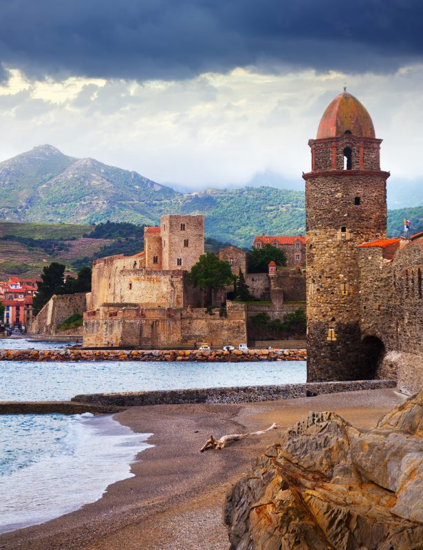 Colors French town and castle Collioure by JackF Adobe Stock