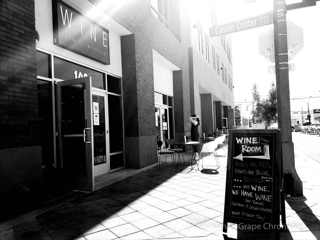 Garagiste Wine Room in Downtown Las Vegas Black & White Photo