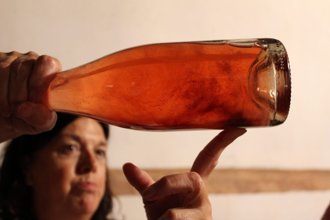 Pamela Geddes of La Pamelita and her Sparkling rose and red wines from Spain. Photo Courtesy of Wine Pleasures