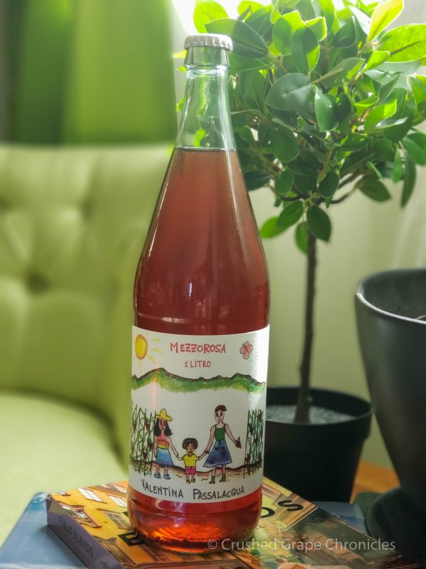 Valentina Passalacqua Mezzo Rosa - Rosato of Montepulciano 1 liter bottle with a crown cap