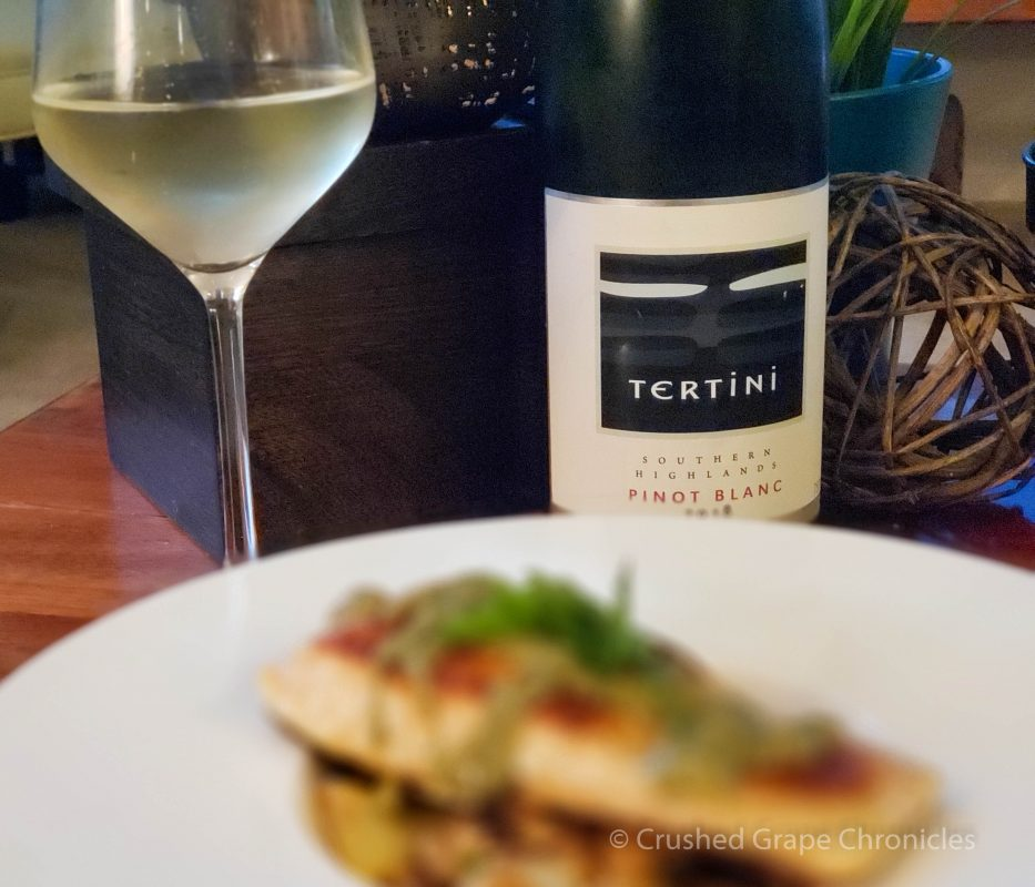 Tertini Pinot Blanc Pairing #2 with Mediterranean salmon & white bean artichoke salad from Sun Basket