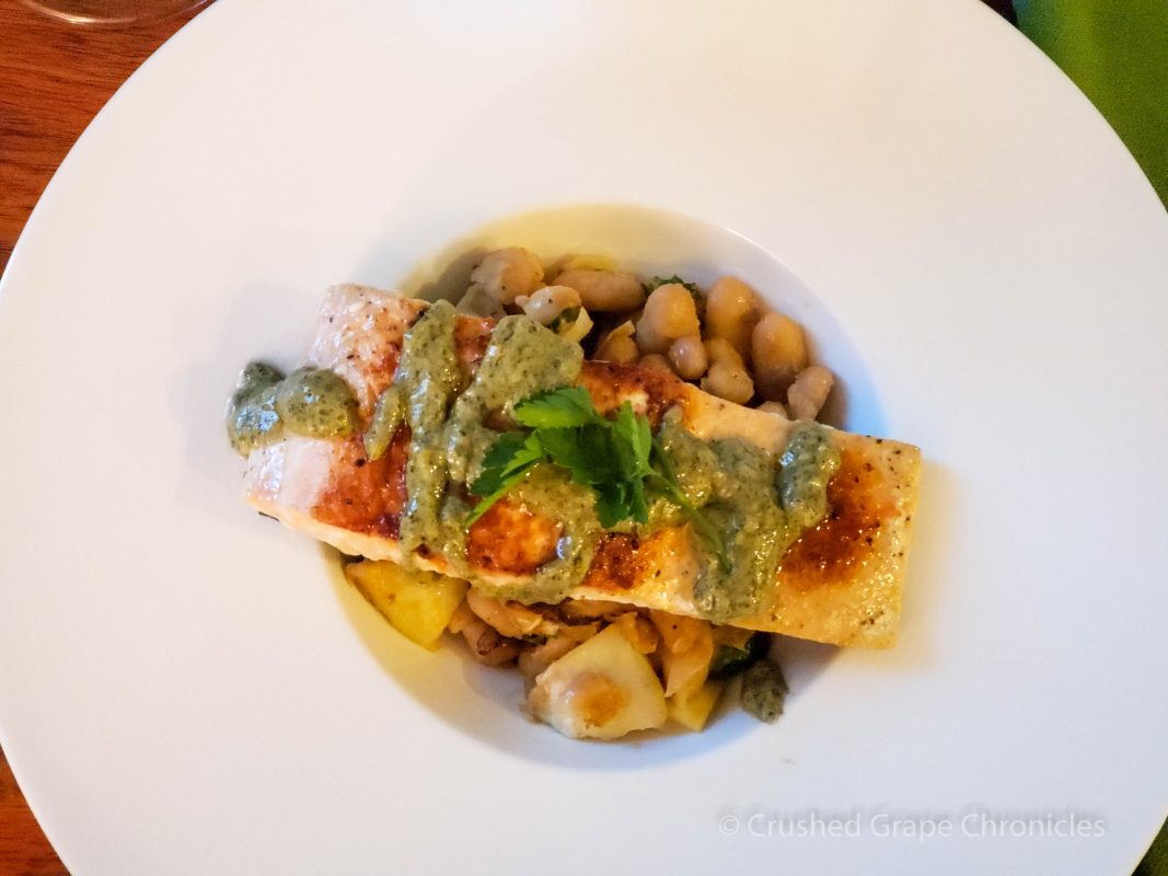 Mediterranean salmon with white bean-artichoke salad from Sun Basket