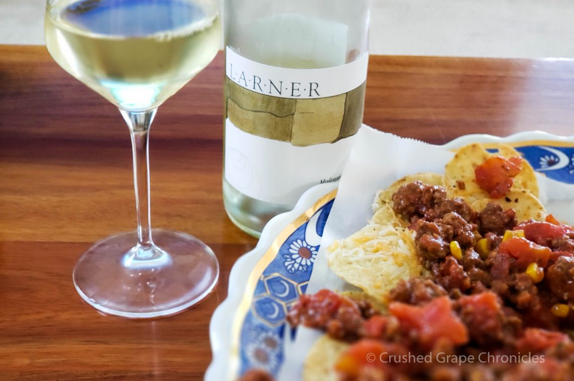 Nachos and Malvasia Bianca from Larner Vineyard in Santa Barbara's Ballard Canyon