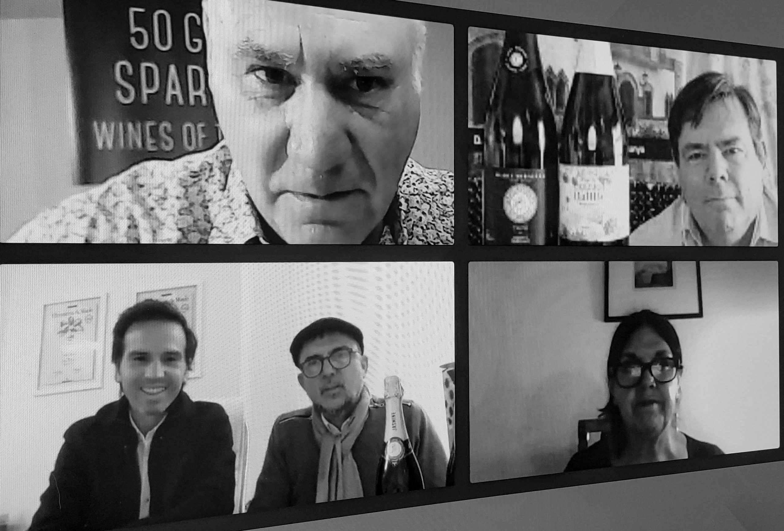 Sparkling Wine Week with Anthony Swift of Wine Pleasures, Gareth York of Ferre I Catasus, Fernando Cardinali and Julien Mendoza of Jasmine Monet and Pam Geddes of La Pamelita during Wine Pleasures Sparkling Wine Week July 2020