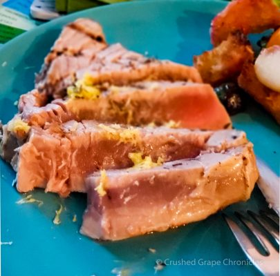 Seared Tuna steak with lemon zest