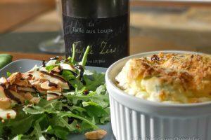 Triple Zero from Domaine de la Taille aux Loups in Montlouis-sur-Loire with a cheese souffle and salad