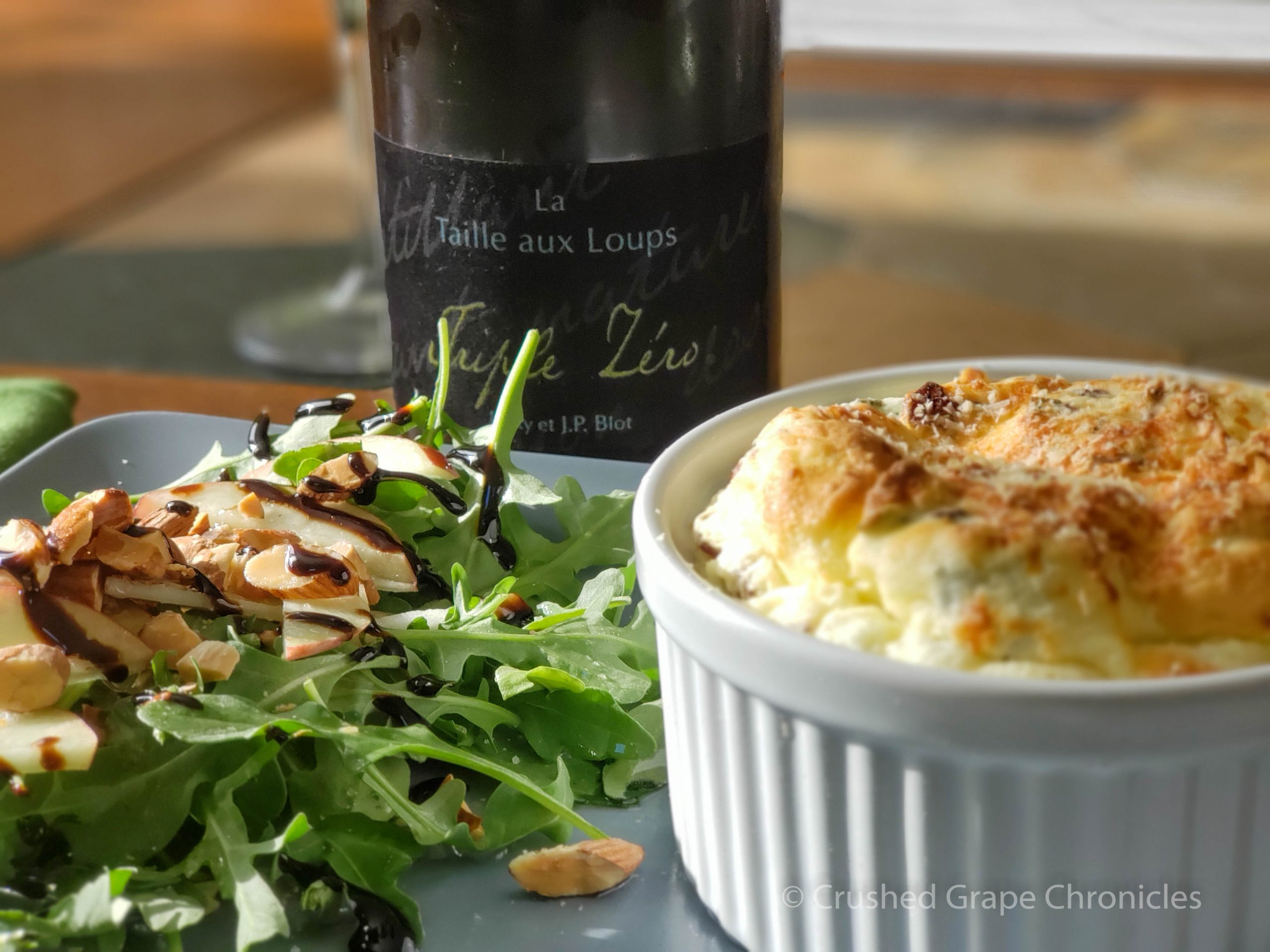 Triple Zero from Domaine de la Taille aux Loups in Montlouis-sur-Loire with a cheese souffle and salad