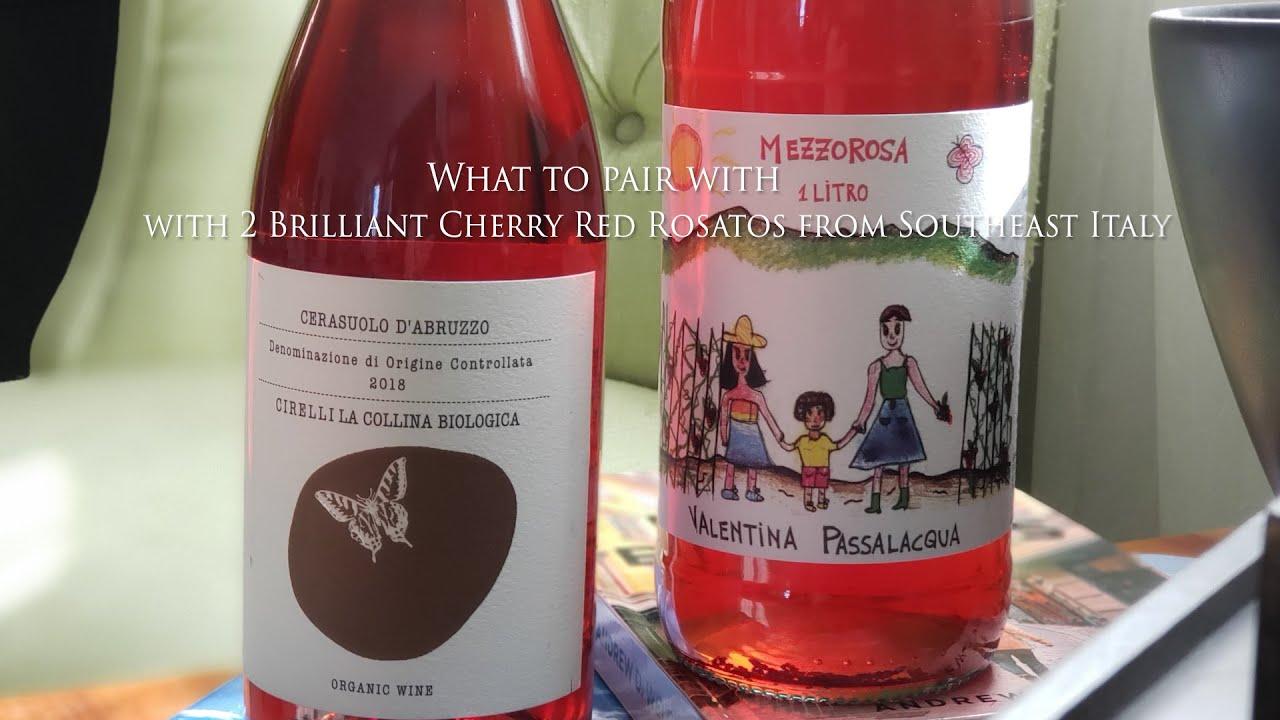 Pallotte Cac e Ove & Orecchiette with 2 Brilliant Cherry Red Rosatos