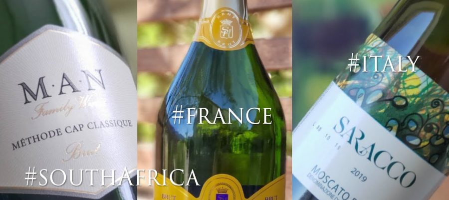 Sparkling wines from around the world Cap Classique from South Africa, Blanquette de Limoux from France and Moscato d'Asti from Italy