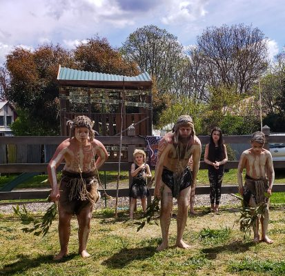 Wiradjuri Dancers at Angullong Cellars in Millthorpe NSW Australia