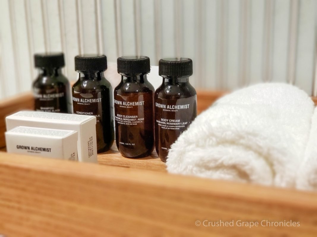 Elegant modern bath supplies at Byng Street Boutique Hotel are spa-worthy. Orange, NSW Australia