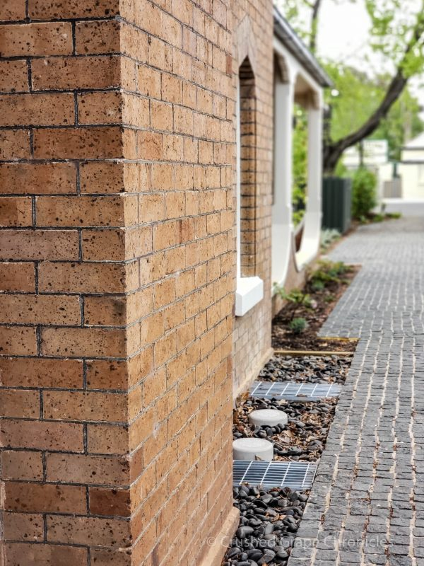 The elegant brick of the Heritage Wing at Byng Street Boutique Hotel in Orange, NSW Australia