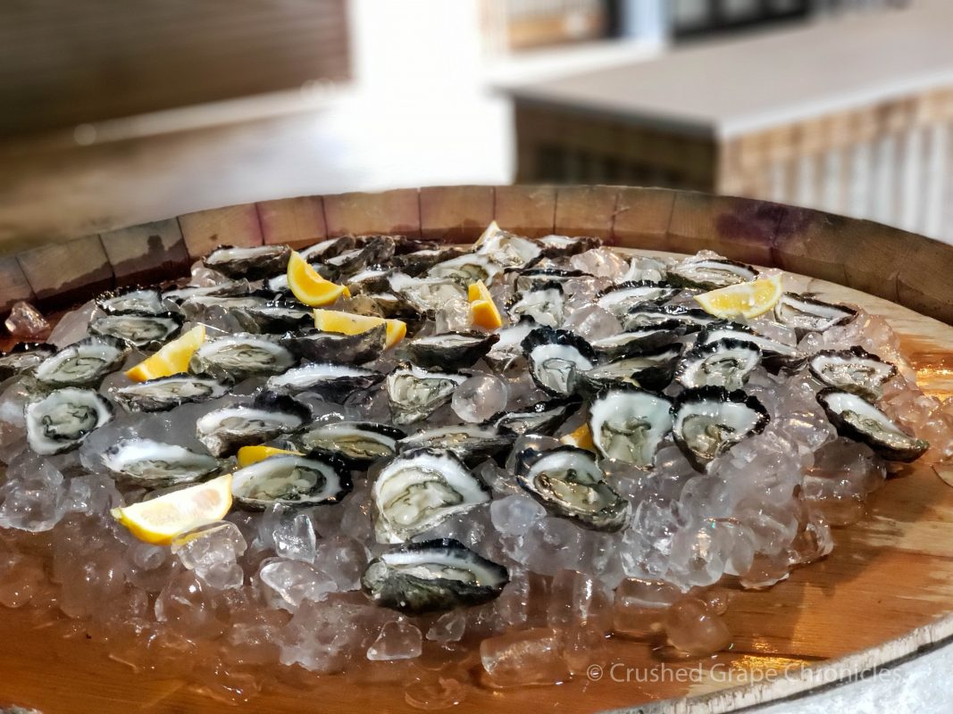 Fresh Oysters with Swift sparkling wine? Twist my arm. They spoiled us on our visit to Printhie. Orange NSW Australia