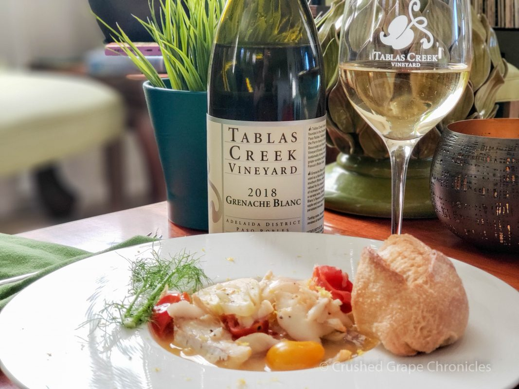 Fish with Fennel and 2018 Grenache Blanc from Tablas Creek Vineyard