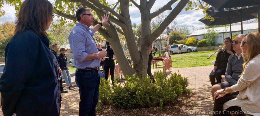 Ben Crossing talks to us about Angullong Vineyard at the Cellar Door in Millthorpe, Orange NSW Australia