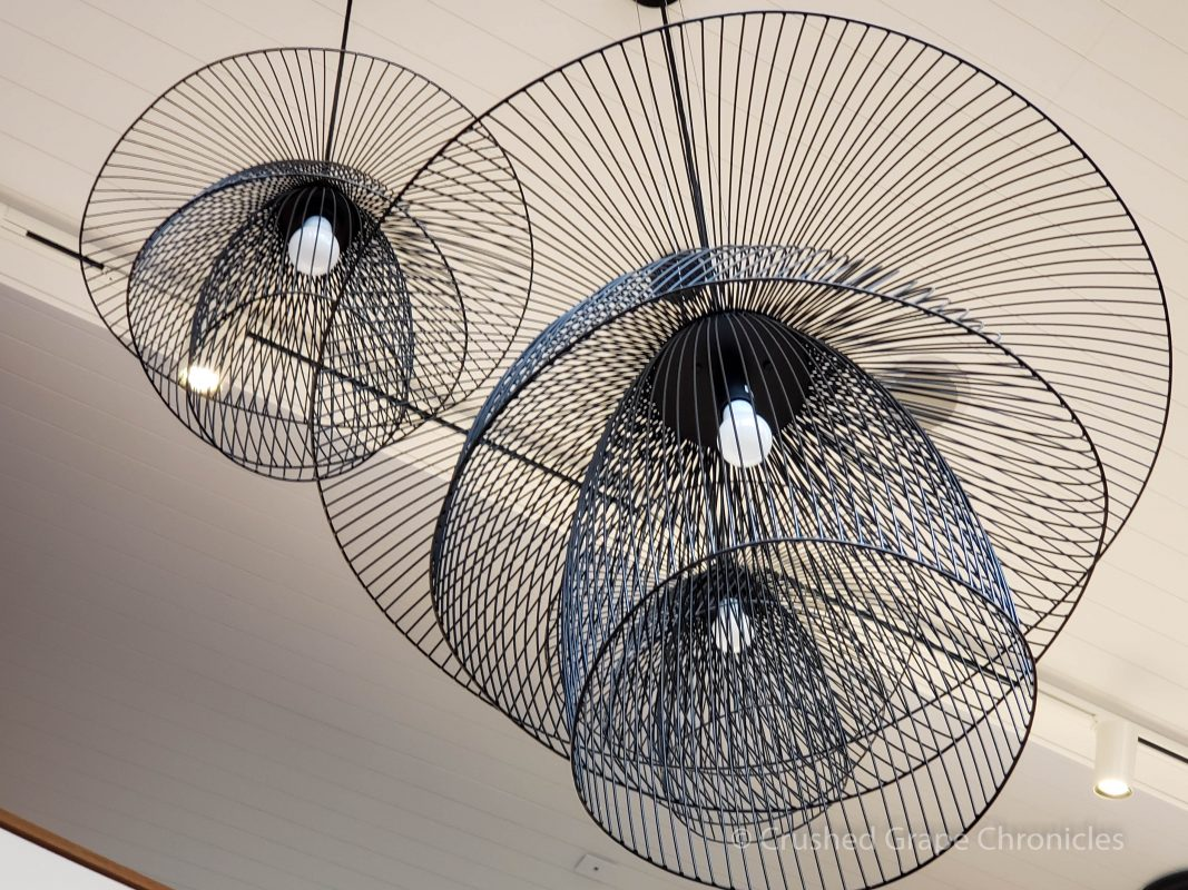 Modern lighting fixtures in the modern wing. Byng Street Boutique Hotel, Orange, NSW Australia