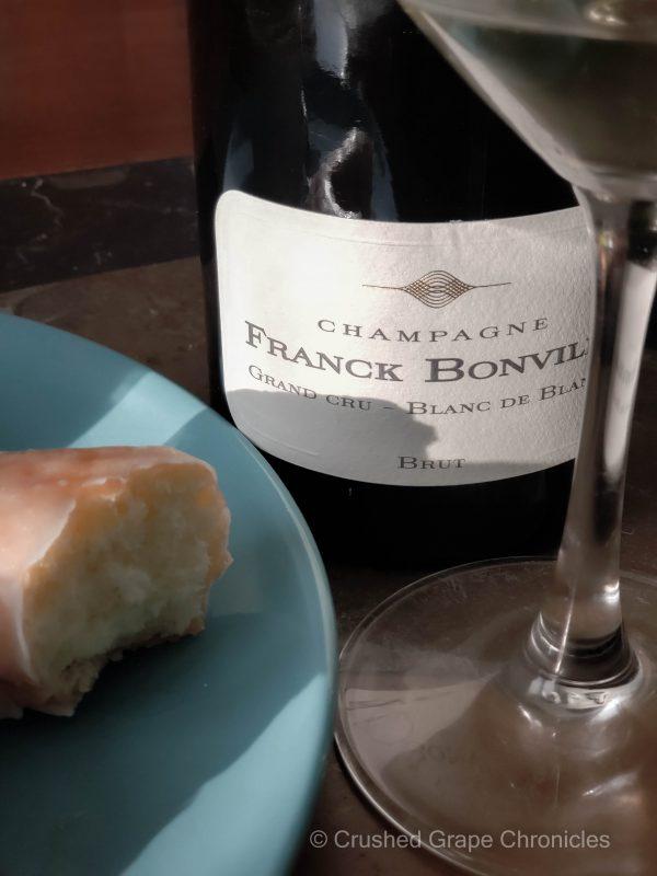 Champagne Franck Bonville with glazed donuts