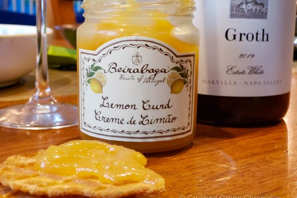 Groth 2019 Estate white dessert pairingButter Waffle cookies and Lemon Curd