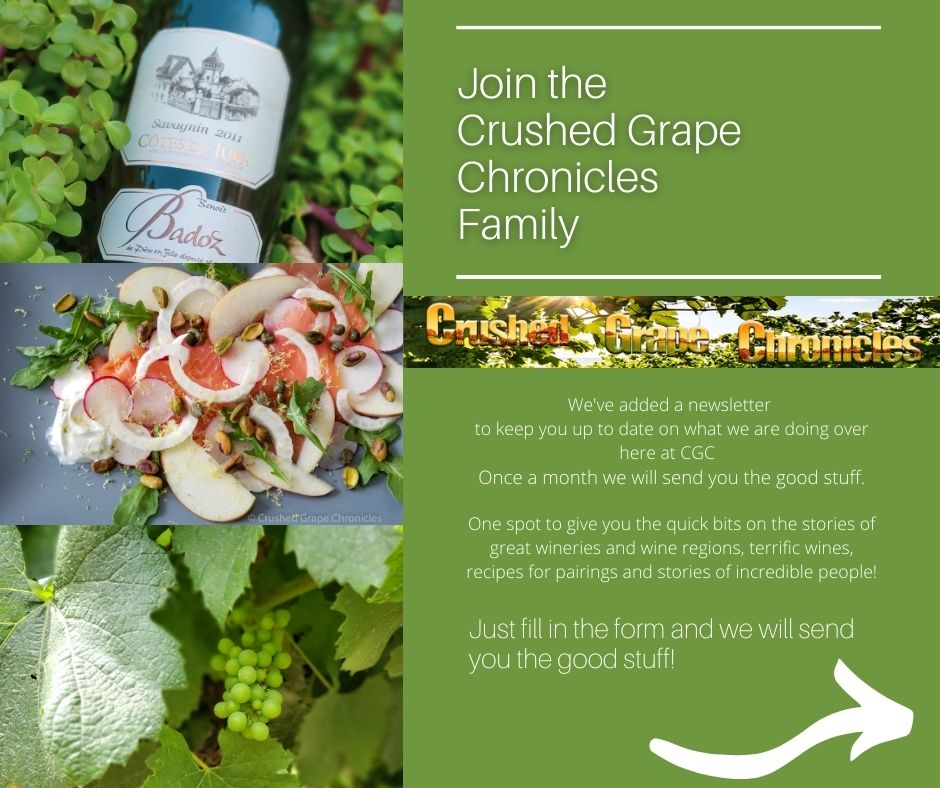 Welcome to Crushed Grape Chronicles for our Newsletter and so much more!