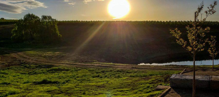 Sunset view from Printhie's Millwood Vineyard in Orange NSW Australia