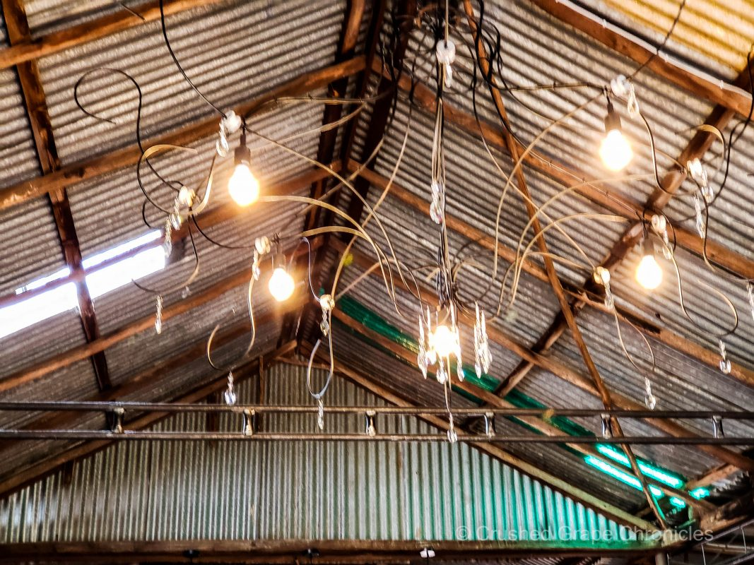 Printhie Swift Sparkling Wines - The Packing Shed Cellar Door -The Packing Shed Chandelier