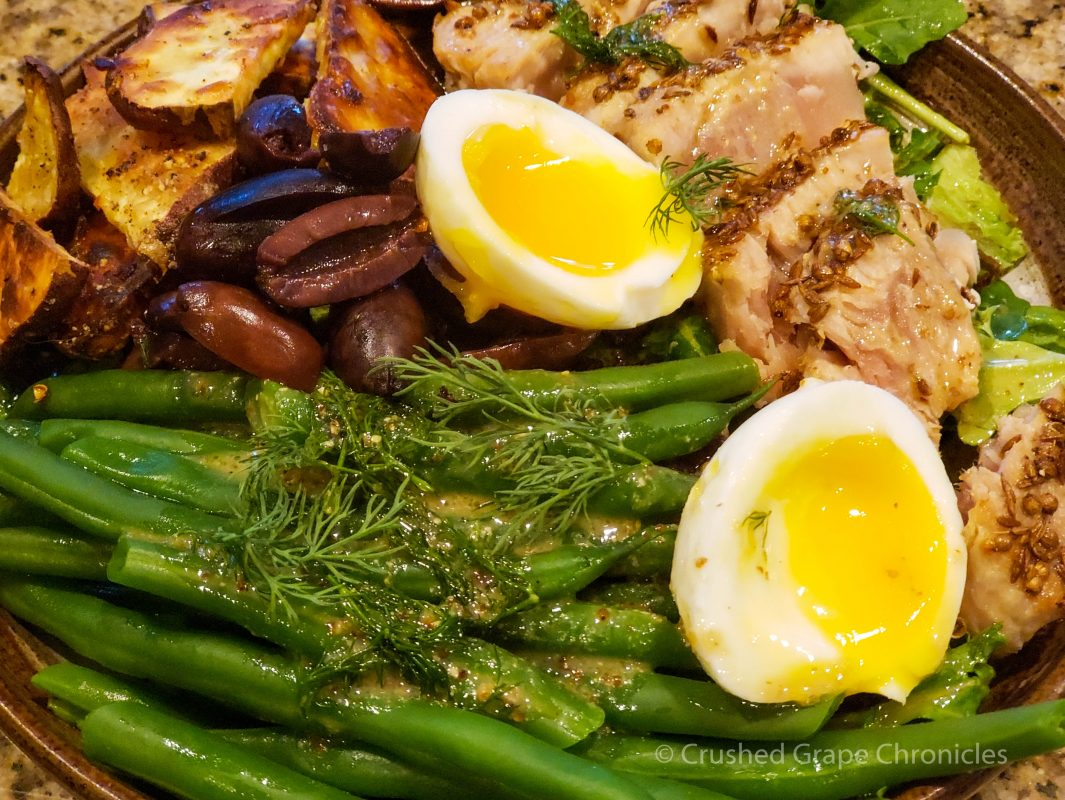 Seared tuna salad, an updated Salade Nicoise