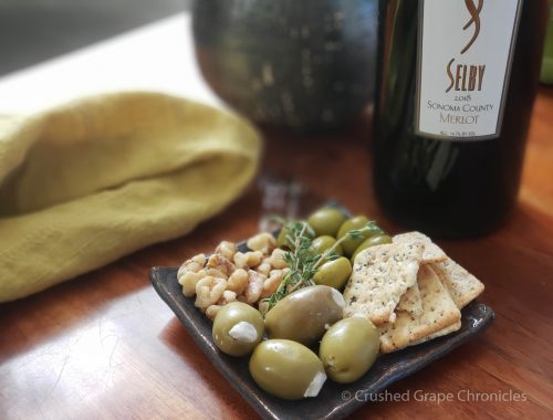 Selby Merlot and Olives