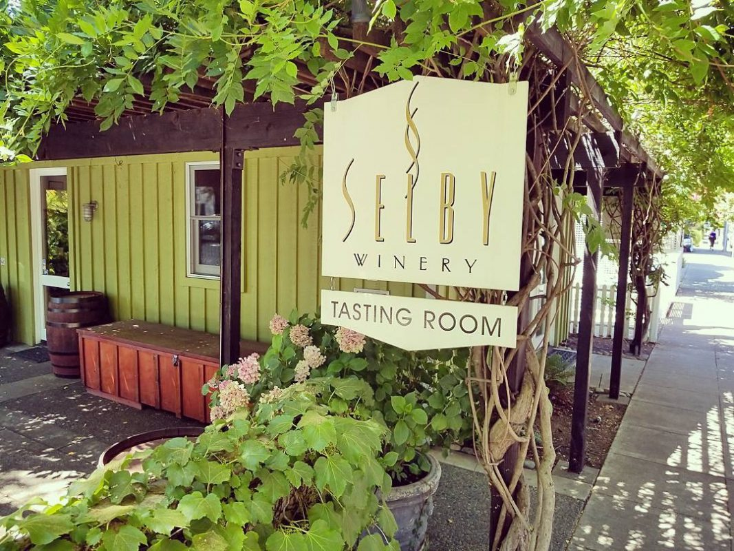 The Selby Winery Tasting Room in Healdsburg California - photo courtesy Selby Winery