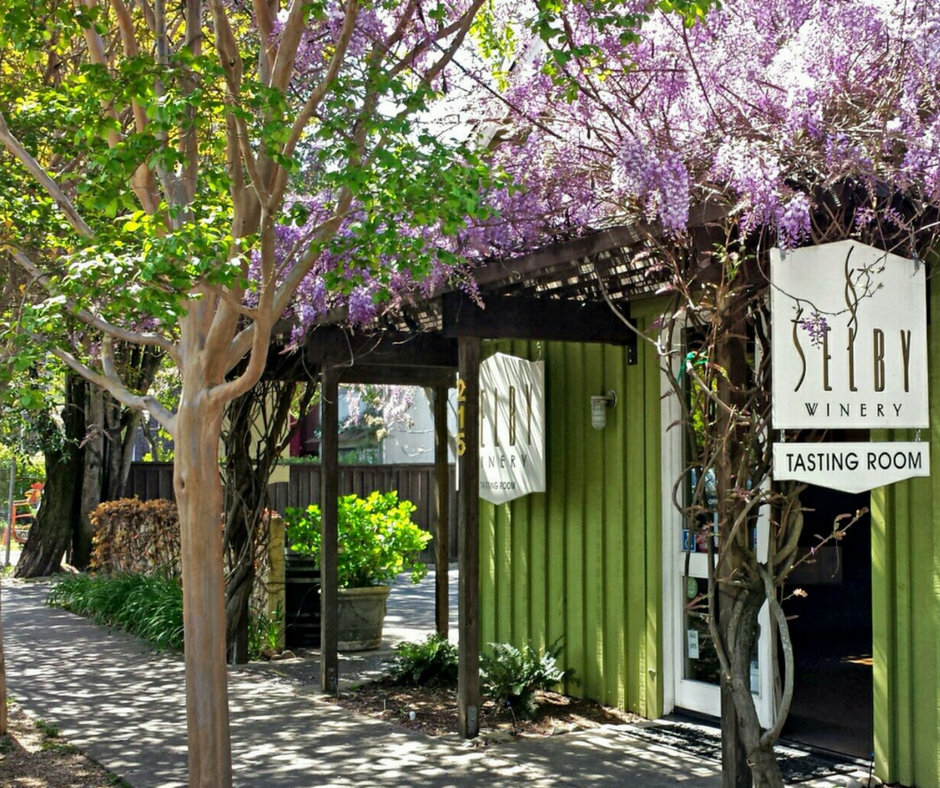 Selby Tasting room covered in Wisteria