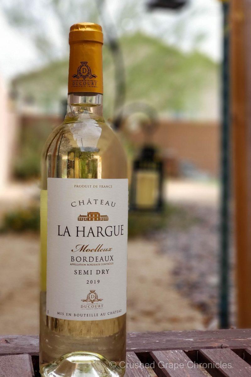 Chateau La Hargue Moelleux 2019 - a semi sweet bordeaux wine