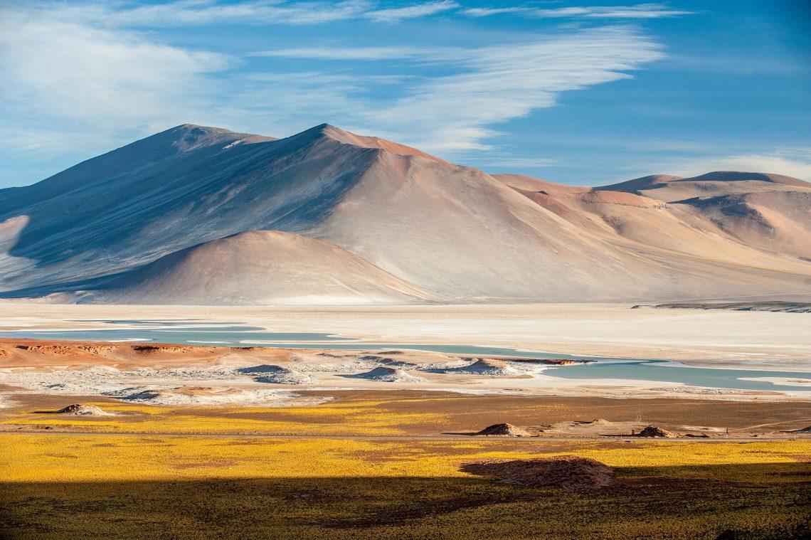 Pideras Rojas Red Rocks Atacama Desert Chile South America adobe stock